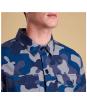 Men's Barbour Camo Button Through Overshirt - Upper and collar