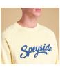 Men's Barbour Cleave Crew Neck Sweatshirt - Front logo design