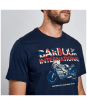 Men's Barbour International Union Racer Tee - Navy