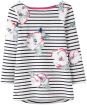 Women's Joules Harbour Print Jersey Top - Cream Poppy