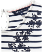 Women's Crew Clothing Beauport Embroidered Top - Navy / White Linen