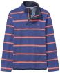 Men's Crew Clothing Padstow Pique Half Zip Sweater - Bright Navy / Papaya