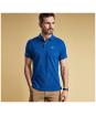 Men's Barbour Tartan Pique Polo Shirt - Electric Blue