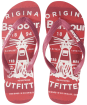 Men's Barbour Beacon Beach Sandals - Red