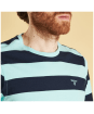 Men's Barbour Bass Stripe Tee - Upper and neckline