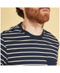 Men's Barbour Tow Stripe Tee - Neckline