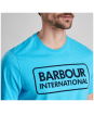 Men's Barbour International Essential Large Logo Tee - Apex Blue