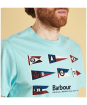 Men's Barbour Pennant Tee - Printed Barbour graphic