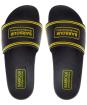 Men's Barbour International Pool Sliders - Black / Yellow
