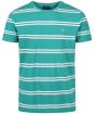 Men's GANT Double Breton Striped T-Shirt - Porcelain Green