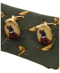Men's Soprano Standing Pheasants Tie and Cufflink Set - Green