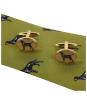 Men's Soprano Black Labradors Tie and Cufflink Set - Green