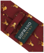 Men's Soprano Stags Heads Tie - Wine