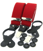 Men's Soprano Luxury Braces - Red