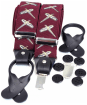 Men's Soprano Flying Pheasants 35mm Leather End Braces - Wine