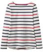 Women's Joules Harbour Jersey Top - Navy / Raspberry Stripe