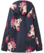 Women's Joules Coast Print Waterproof Jacket - Back