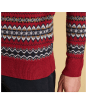 Men's Barbour Case Fairisle Crew Neck Jumper - Rich Red