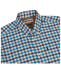 Men's Barbour Moss Check Shirt Tailored Fit - Mid Blue Check