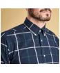 Men's Barbour Baxter Check Shirt - Midnight Blue Check