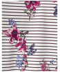 Women's Joules Harbour Print Jersey Top - Harvest Floral Plum Stripe