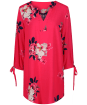 Women's Joules Odelle Woven Tunic Top - Raspberry Bircham Bloom