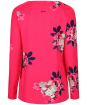 Women's Joules Harbour Print Jersey Top - Raspberry Bircham Bloom