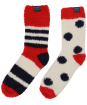 Women's Joules Fabulously Fluffy Short Socks - French Navy Stripe