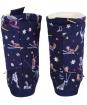 Women's Joules Homestead Fleece Lined Slipper Socks - French Navy Woodland Ski