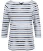 Women's Crew Clothing Essential Breton Top - White / Light Indigo / Navy