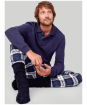 Men's Joules Sleeper Check Lounge Trousers - Blue Check