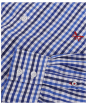Men's Crew Clothing Classic Gingham Shirt - Lapis Blue Marl
