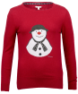 Women's Barbour 'The Snowman™' Highland Knitted Sweater - Red