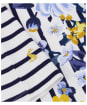 Women's Joules Harbour Printed Top - Cream Stripe Floral