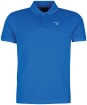 Men's Barbour Sports Polo 215G - Sport Blue