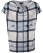 Women's Barbour Redgarth Top - Fade Blue Tartan