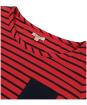 Women's Barbour Newquay Top - Reef Red / Navy