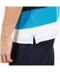 Men's Timberland Millers River Pique Wide Stripe Polo Shirt - Indigo Bunting
