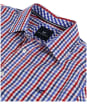 Men's Crew Clothing Classic Gingham Shirt - Henley Red / Blue Horizon / Amparo Blue