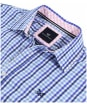 Men's Crew Clothing Classic Gingham Shirt - Blue Sky / Amparo Blue