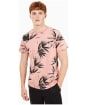 Men's Timberland Kennebec River All Over Print Tee - Rosette Banana Leaf Print