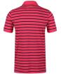 Men's Crew Clothing Narrow Stripe Polo Shirt - Summer Pink / Navy
