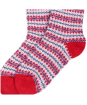Women's Barbour Seaton Socks - Red / Grey