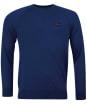 Men's Barbour International Absorb Merino Crew Sweater - Deep Blue