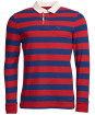 Men's Barbour Dylan Stripe Rugby Shirt - Pillar Box Red