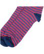 Men's Barbour Dog Stripe Socks - Red / Navy