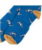 Men's Barbour Fish Socks - Blue / Yellow