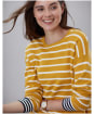Women's Joules Uma Boat Neck Jumper - Antique Gold