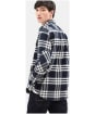 Men's Timberland LS Back River Flannel Check Shirt - Dark Navy
