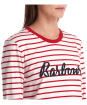 Women's Barbour Kielder Tee - White / Brick Red